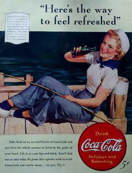 Vintage Coke Ads | Vintage magazine ads 1900s - 1960s. Coca-Cola, Schlitz, automobile ...
