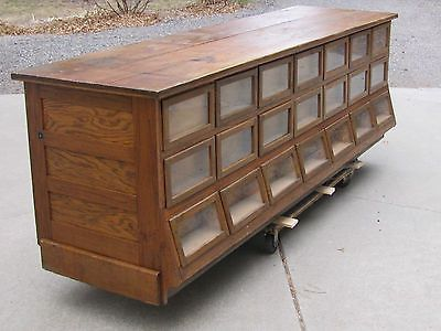 Antique Country Store Sherer Oak Seed, Bean or Candy Counter Display Cabinet - 9 Best Vintage Cabinets Images On Pinterest Furniture, Cabinets