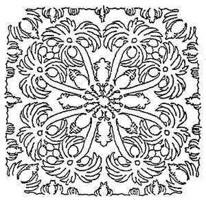 coconut pattern - link has variety line drawings of hawaiian quilts, low resolution
