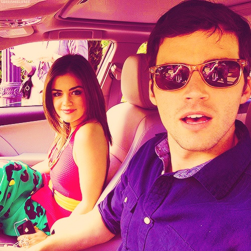 Lucy Hale and Ian Harding aka Aria Montgomery and Ezra ...