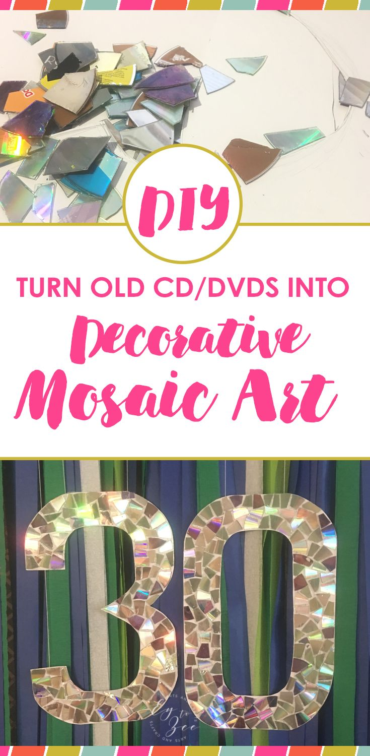 CD/DVD Mosaic Art