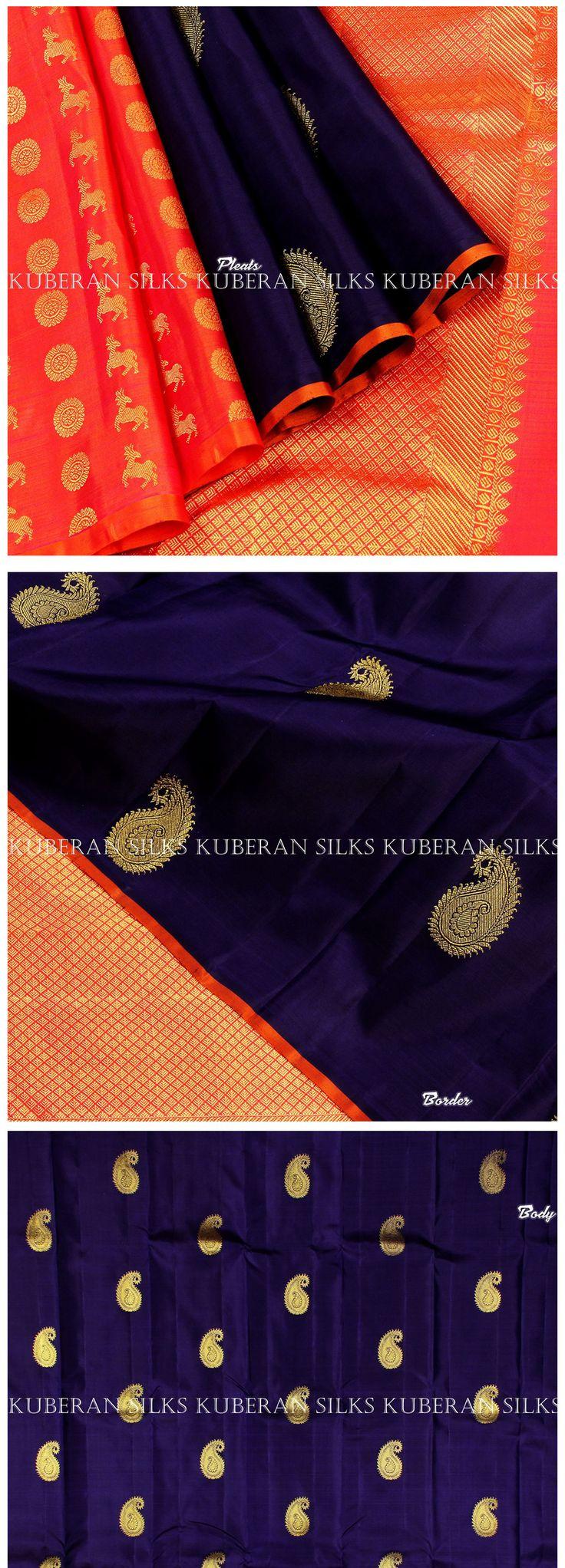 Kuberan Royal Blue Kanchivaram Silk Saree #kanchipuram #silksarees #kanchipuramsarees #online #kanchipuramsilk #sareesonline #purekanchipuram #silksarees #buy #shop #latest #offer