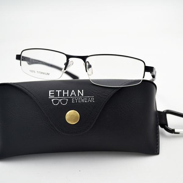 #FASHION #NEW Pure Titanium Half Rim Eyeglasses Frame Men Optical Clear lens Computer Myopia Prescription Eyewear with case