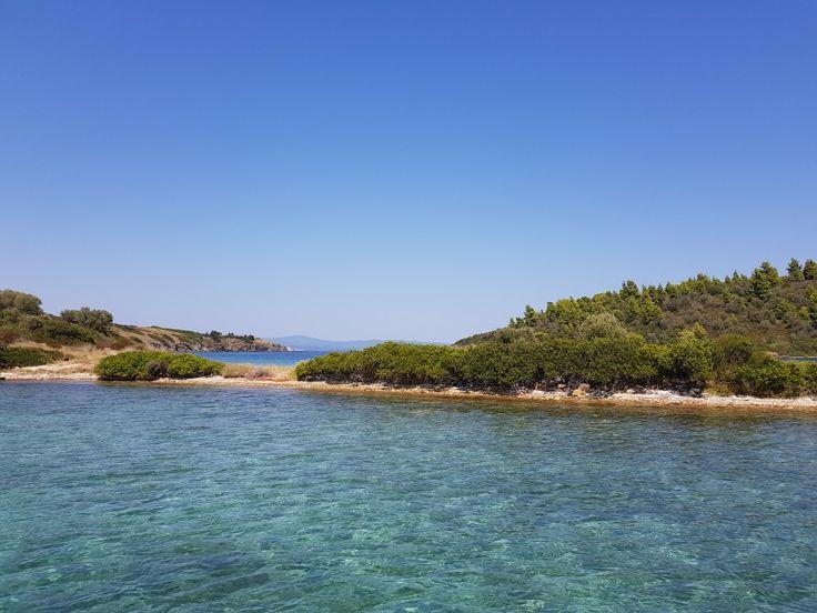 Vourvorou, hidden beach,  Sithonia, Greece