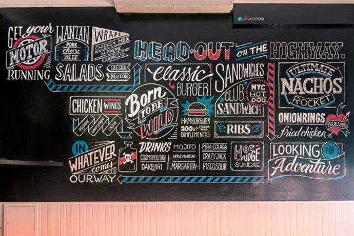 34 Inspiring Typography Wall Mural Designs   Web & Graphic Design   Bashooka