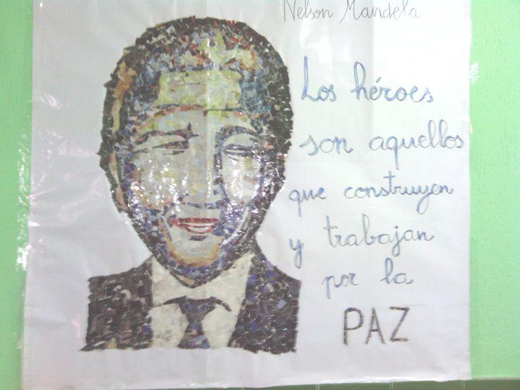 Collage elaborado por nuestra maestra de Logopedia. Día de la Paz 2014.