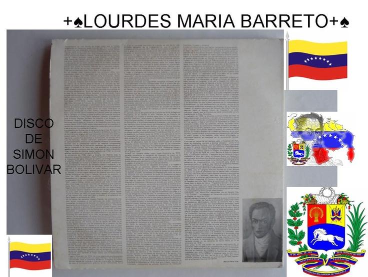 DISCO DE SIMON BOLIVAR UN FABULOSO DISCO DE MI PAPA,PARA EL DIA DE HOY.PARTE 4    VENEZUELA HOY 14 DE ABRIL DEL 2013  ES EL GRAN DIA DE IR A VOTAR…VENEZUELA QUE VUELVAS HACER EL PARAISO QUE ERAS…COMO LO DIJO EL PADRE PEDRO NUÑEZ,EN LA JORNADA QUE VINO A VENEZUELA.  +♠LOURDES MARIA BARRETO+♠