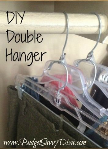 How to Make a Double Hanger Using Pop Tops - HOW Cool Is That!: Weight Loss, Bedroom Closets, Double Hanger, Dorm Closet, Craft Ideas, Diy Projects, Pop Tops
