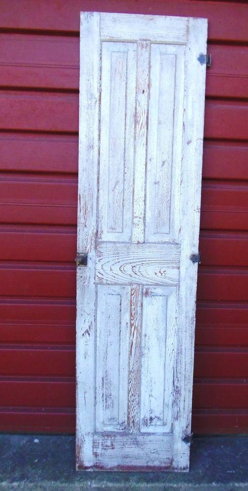 Antique Raised Panel Door Chimney Closet Pantry Door with Hardware #AntiqueHandConstructed