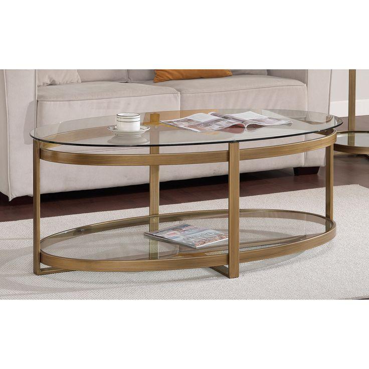 Coffee Table Overstock Part - 23: Retro Glitz Glass/ Metal Coffee Table | Overstock™ Shopping - Great Deals  On Coffee
