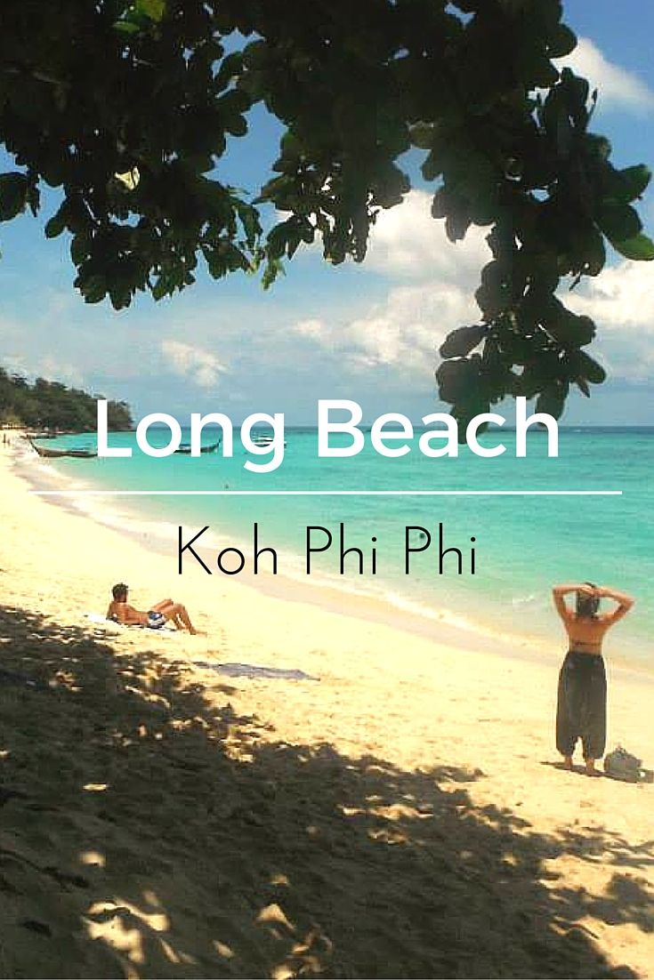 Long Beach makes Koh Phi Phi worth visiting! This island paradise isn't short of beautiful beaches, but Long Beach is a hidden treasure for backpackers.  Travel in Thailand | Asia travel | paradise | best beaches