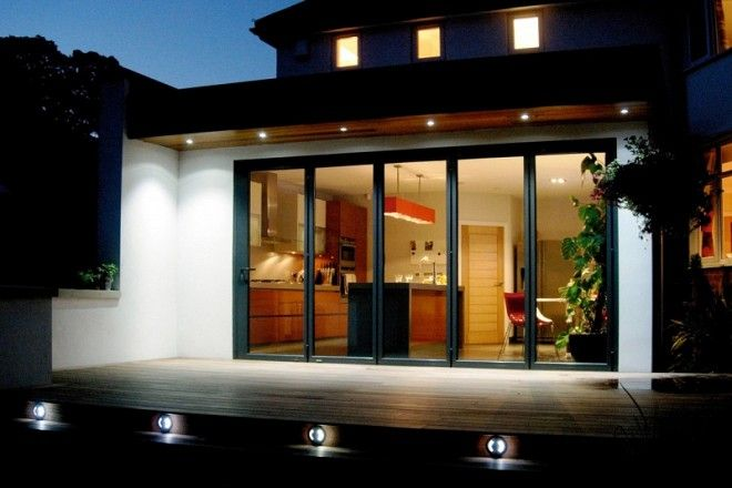 Eco-friendly house extension using 5 panel bi-folding doors
