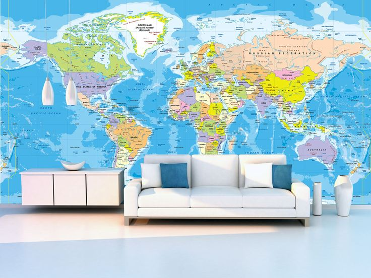Best 25 world political map ideas on pinterest the hist for Executive world map wall mural