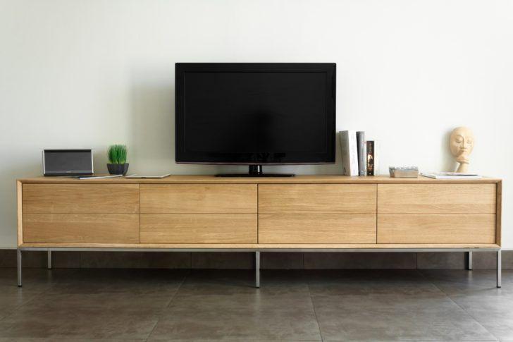 interior design:Meuble Tv Noir Et Bois Meuble Tele Chene ...