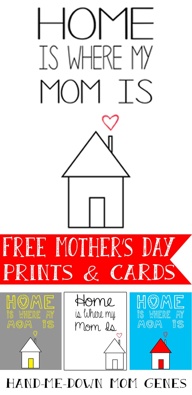 FREE Hand Me Down Mom Genes: Mother's Day Free Prints and Cards