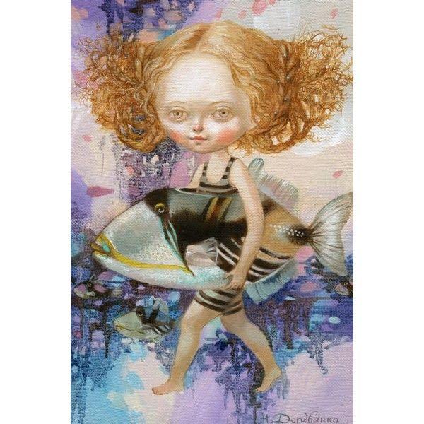 Postcards If the fish had legs by Nataliya Derevyanko