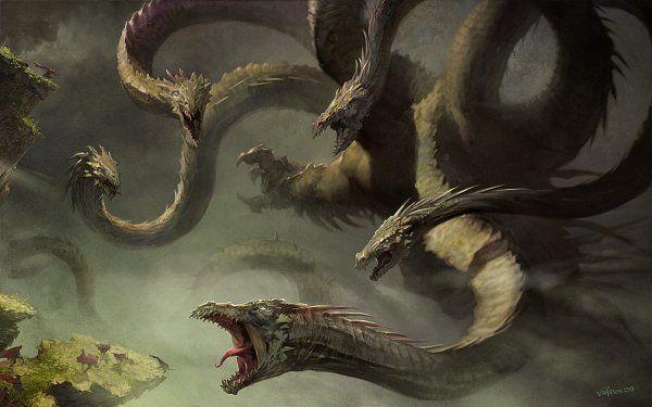 mythologie 8 tete | Hydre ___ le serpent aux têtes invincibles - Monstres Mythiques et ...