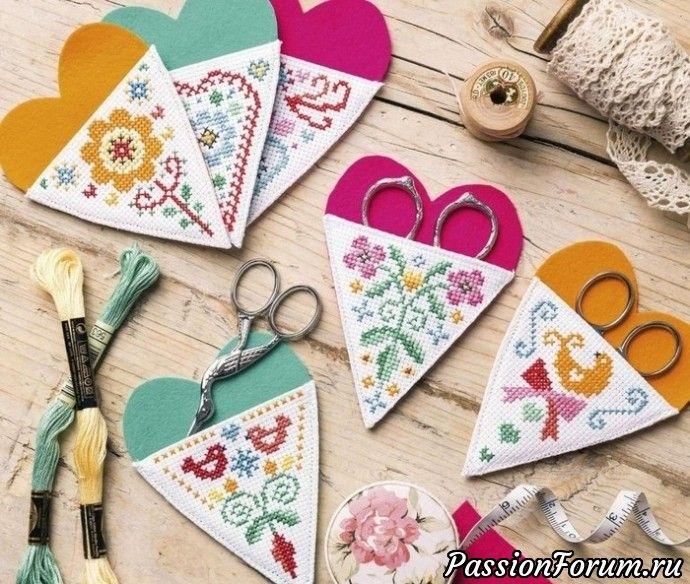 Вышивка на футлярах для ножниц - запись пользователя vikanika (Виктория) в сообществе Вышивка в категории Схемы вышивки крестом, вышивка крестиком