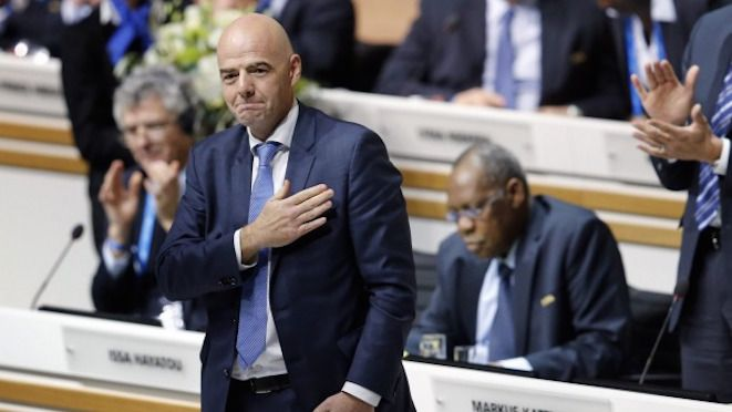 'The accidental candidate', Gianni Infantino of Switzerland was elected President of FIFA in the second round of voting, defeating his closest rival Shaikh Salman of Bahrain by 115 to 88.  27.02.16