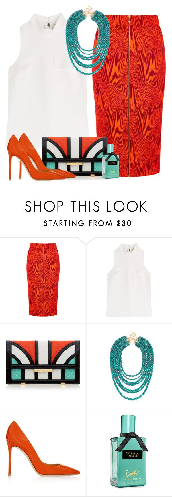 """№860"" by a2k2011 ❤ liked on Polyvore featuring House of Holland, MSGM, Aperlaï, BaubleBar and Gianvito Rossi"