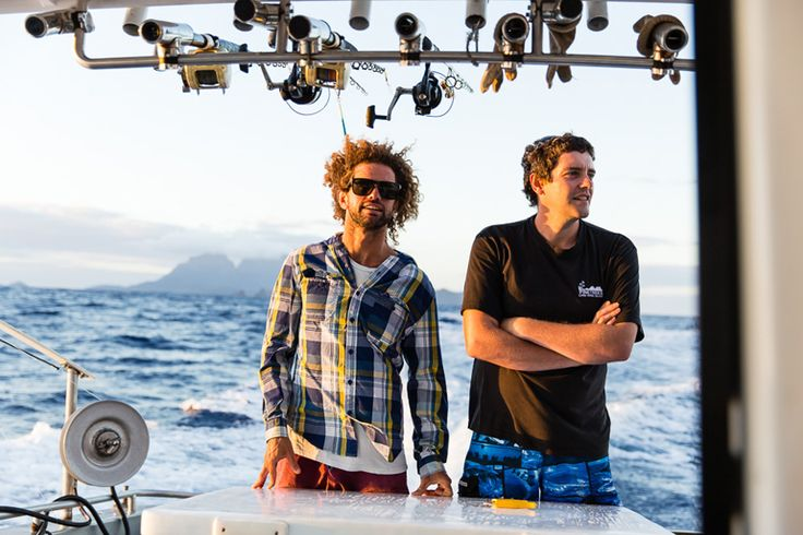 Chef Al and Dave en route to catch kingfish   Lord Howe Island