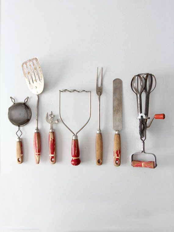 Attractive Vintage Kitchen Utensil Collection By 86home On Etsy