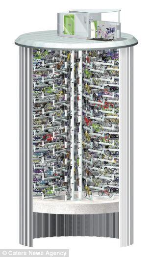 El portabicicletas subterráneo que tiene 200 motos por debajo de las calles de Tokio.