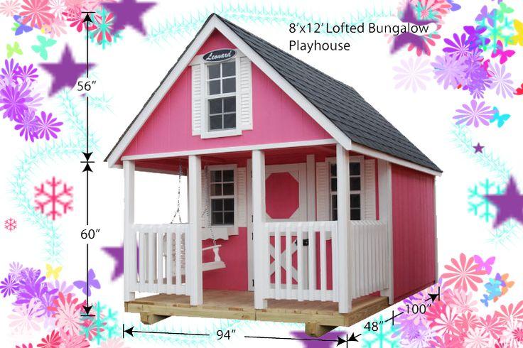 Wooden | Playhouses | for Kids | sale | girls | outdoor | NC SC VA TN WV | boys | Leonard