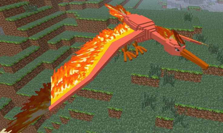 Legenday Shiny Moltres Pixelmon Minecraft Mod.