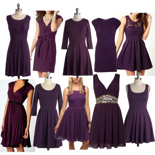 Dark Purple Short Casual Bridesmaid Dresses Under $50 Polyvore