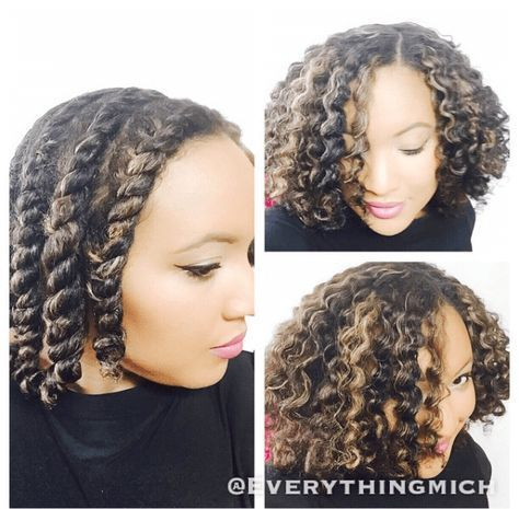 How To Get The Perfect Flat Twist Out demonstrates how to achieve a beautiful wavy style for your natural hair #flattwistout