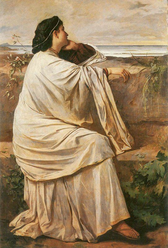 Anselm Feuerbach - Iphigeneia daughter of Agamemnon: Tags: iphigenia, iphigenia, ifigenia, ifigeneia,
