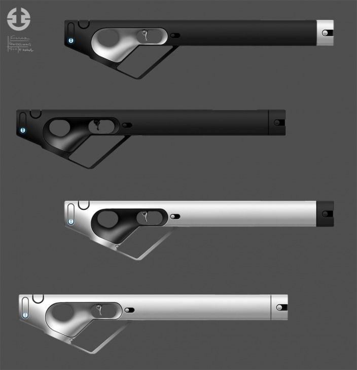 Somarian Handguns by FHaettich, very cool design setup for a gun