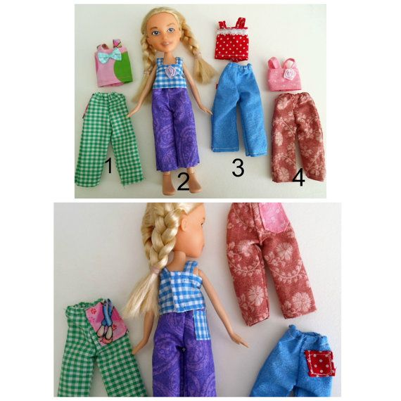 Mix and Match set of 3 Outfits to fit Bratz by HelloNaturalDolls
