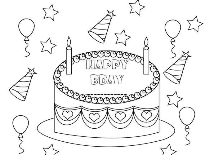 Personalized Happy Birthday Coloring Pages To Print Happy