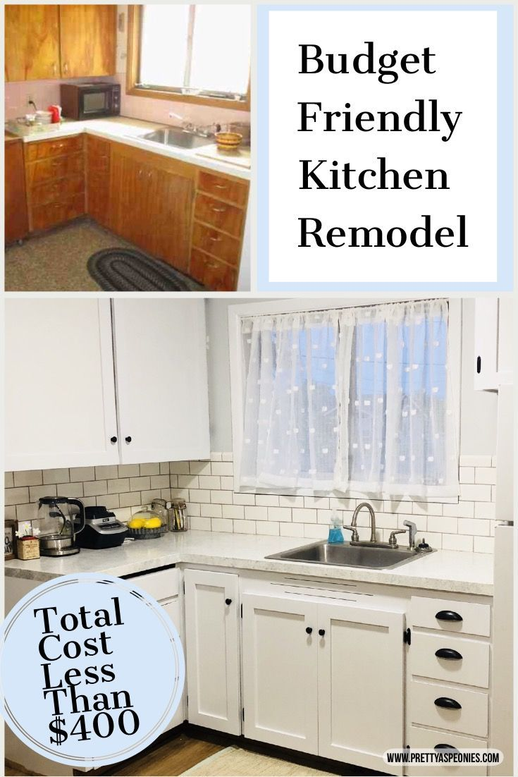 Budget Kitchen Remodel How I Remodeled My Small Kitchen For Less Than 400 Pretty As Peonies Budget Friendly Kitchen Remodel Kitchen Remodel Small Budget Kitchen Remodel