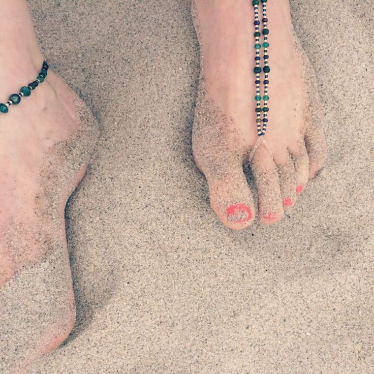 Slinking in up on the #beach in #sardinia #barefoot #jewellery #summer