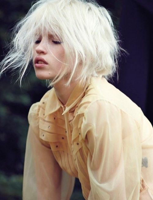 14 Wild and Chic White Hairstyles | White hair, Bobs and Bob hairstyle