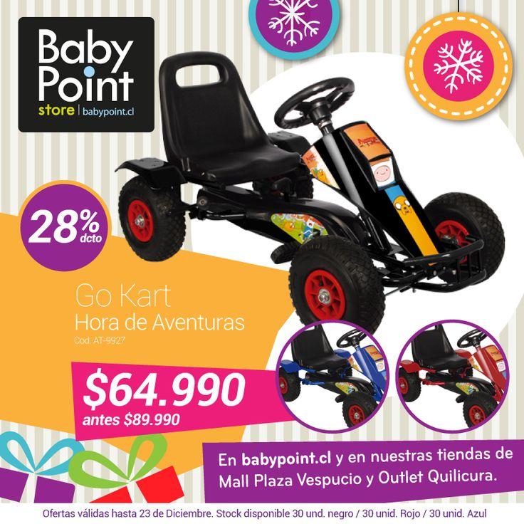 #NavidadBabyPoint 28% descuento en Go Kart ¡Un regalo genia! Revísa sus características aquí ->bit.ly/1v4pGfl