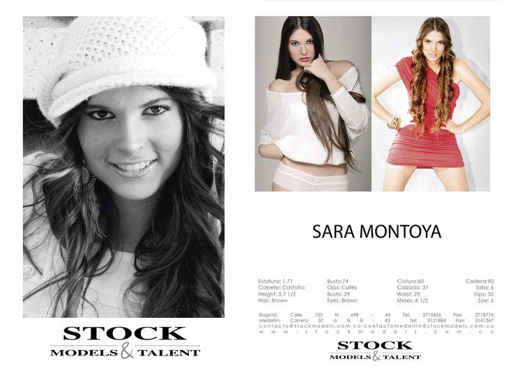 Sara Montoya - Modelo Stock Models -