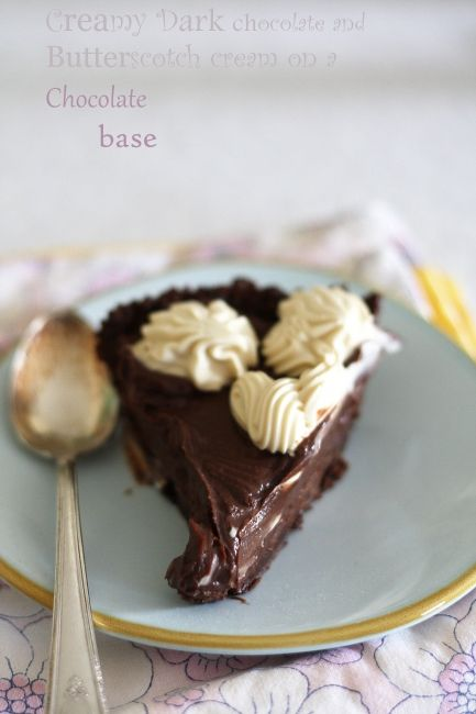Double chocolate cream tart (no bake) | Recipes: baking | Pinterest