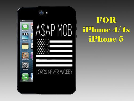 Asap Rocky Gold Vsvp - Print on Hard Cover iPhone 5 Black Case - iPhone 4/4s Case - Please Leave a Note For the Type Case and Color Case