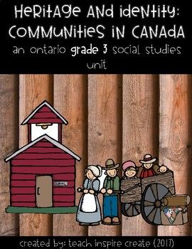 Ontario, Grade Three Social Studies Curriculum: Heritage and Identity: Communities in Canada, 1780-1850