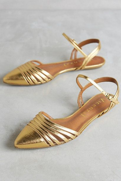 These are gorgeous. Hello beautiful. Vicenza Astres Flats #anthropologie