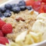 Resep Bubur Oatmeal kayu manis with fresh fruit, rasanya sangat enak, dan makanan yang sehat.