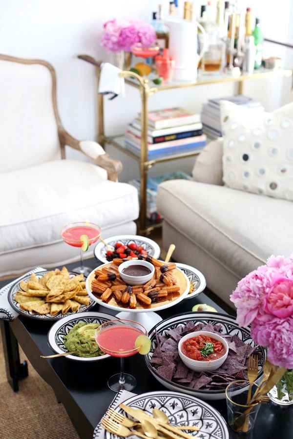 Girls Night In. Great party ideas for the perfect set up. #party #girlsnight