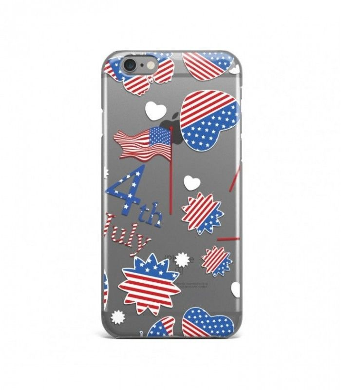 Stars and Flag American Pattern Clear or Transparent Iphone Case for Iphone 3G/4/4g/4s/5/5s/6/6s/6s Plus - USA0080 - FavCases