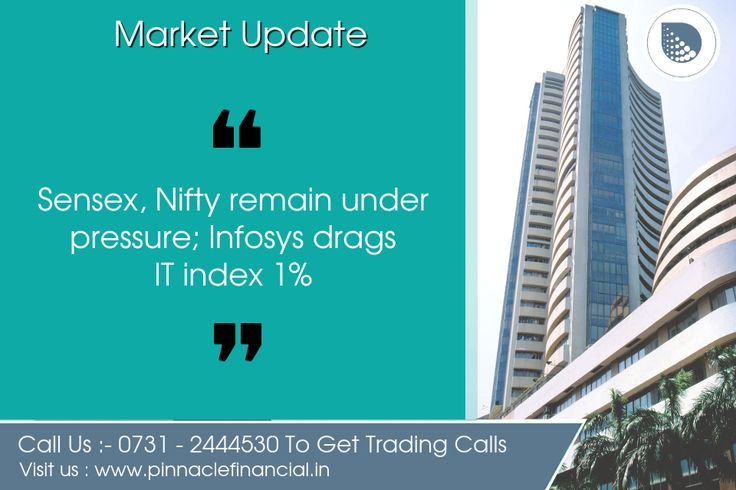Benchmark indices continued to reel under pressure amid volatility. Investors digested UK exit poll that showed there could be a possibility of hung parliament after Thursday's election. The 30-share #BSE #Sensex was down 75.63 points at 31,137.73 and the 50-share #NSE #Nifty fell 24.30 points to 9,622.95. Infosys (down 2.5 percent) pulled the Nifty IT index lower by 1 percent as investors turned cautious on the stock after a media report said co-founders may be exiting the company. Adani…