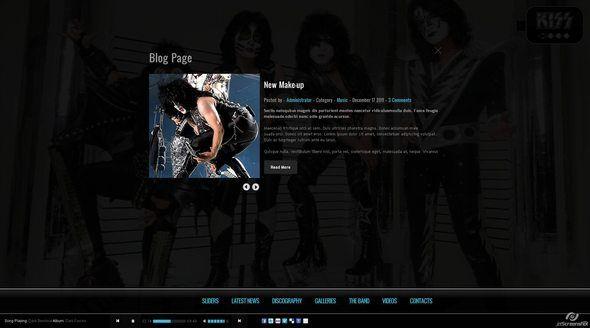 Kiss - Band-Template - HTML5 - CSS3