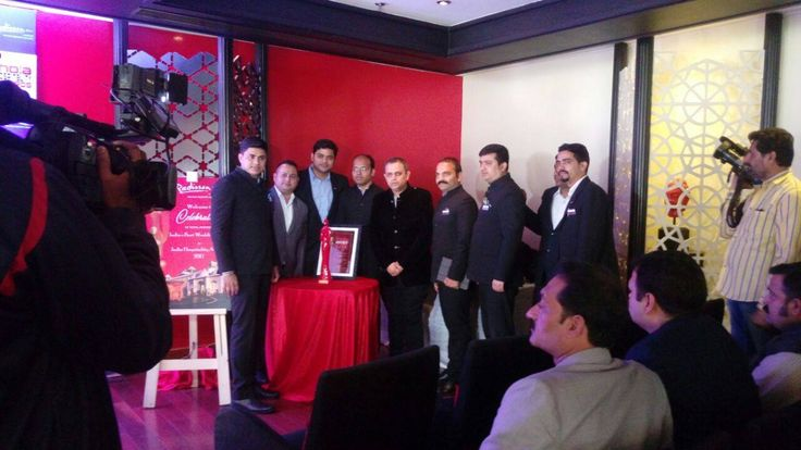 Success Party of being awarded as 'India's Best Wedding Hotel' at India Hospitality Awards 2017 -Supported by The Ministry of Tourism and The Indian Government.  Press Conference with the Media at Radisson Blu Udaipur. #IndianWeddings #DestinationWEddings #UdaipurWeddings #WeddingsinUdaipur